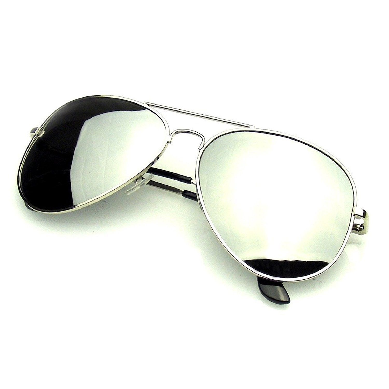 Aviator Sunglasses Mirror Lens New Men Women Fashion Frame