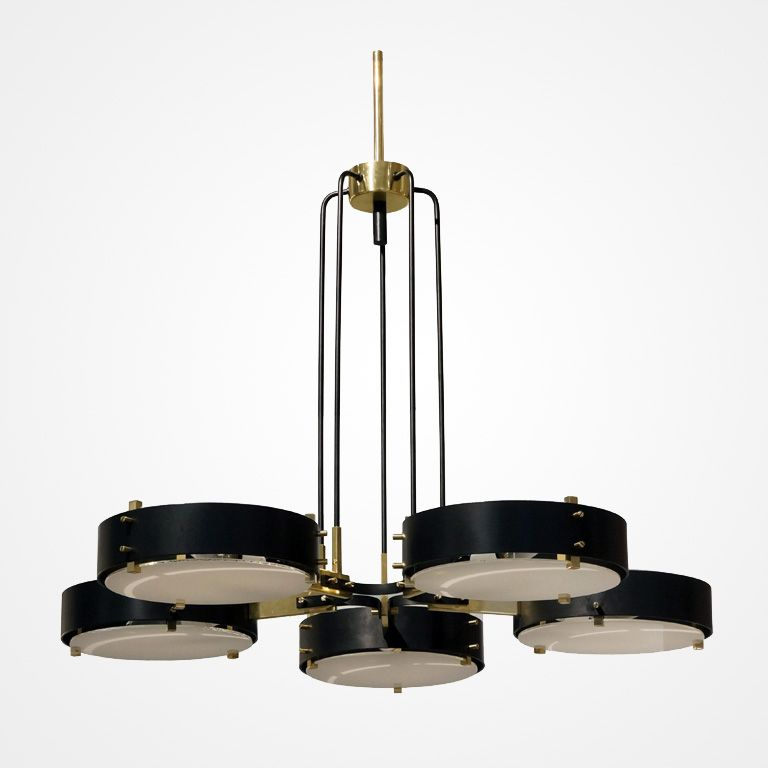 5 Light Stilnovo Chandelier | Italian Mid Century Design | Pinterest ...