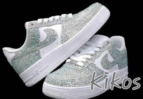 bedazzled white nike air force 1  c89533f2e