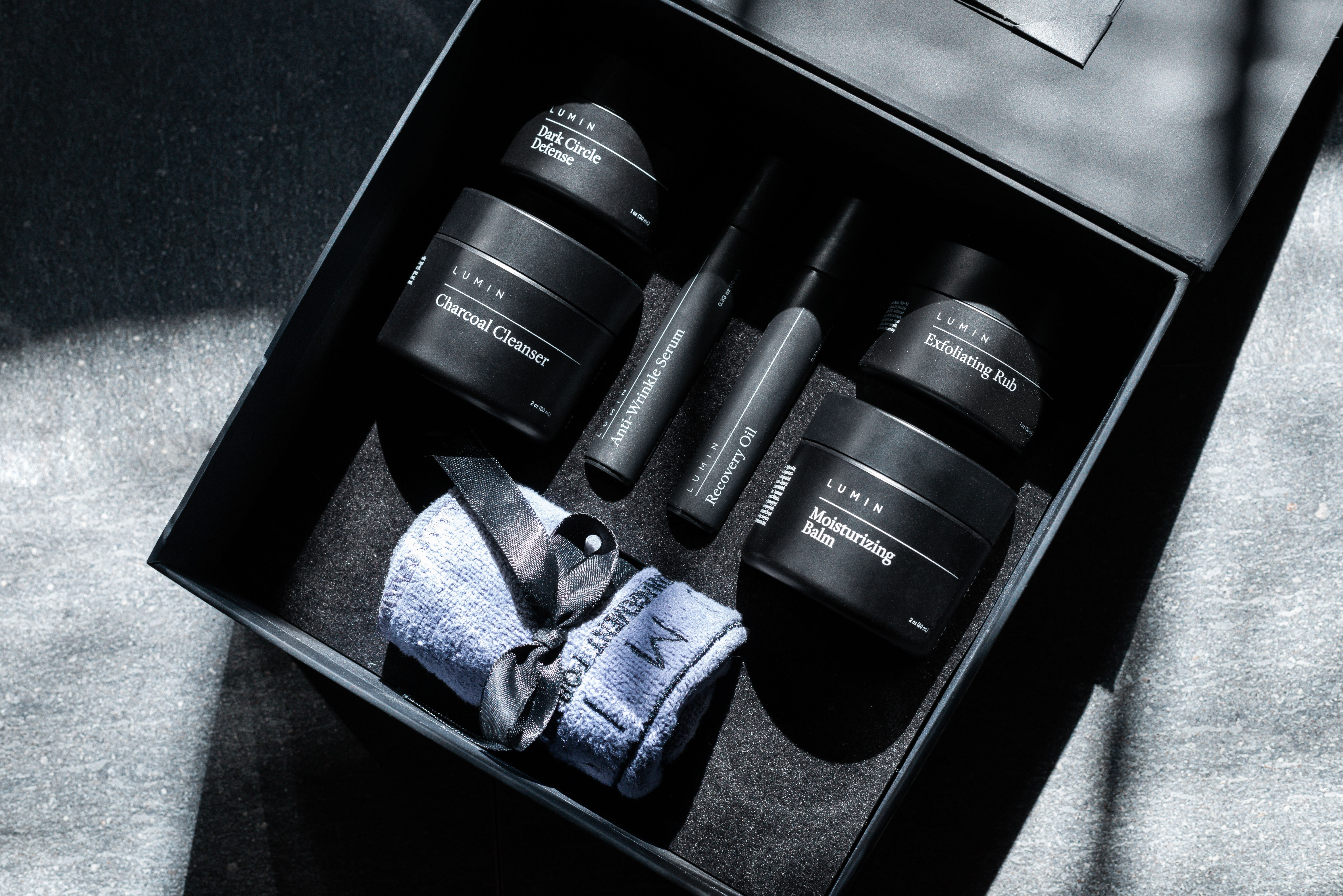 Lumin Skincare For Men Has A Brand New Look We Ve Updated Our Packaging To Have A Sleek Premi Mens Skin Care Packaging Mens Skincare Packaging Mens Skin Care