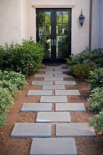 Une belle allée de #jardin #entrée #maison #porte #idée #aménagement - Allee De Jardin En Pave
