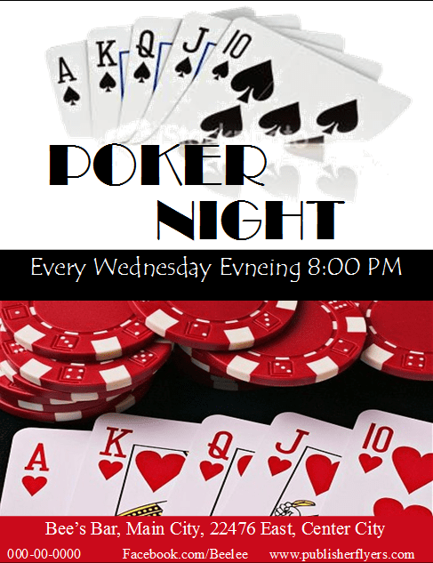Free Publisher Poker Night Flyer Template It Is Easy To Edit And Completely Free To Download Flyer Template Flyer Templates