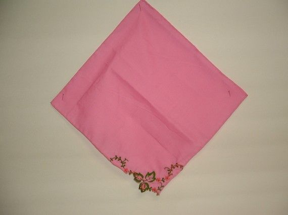 Pink and Bling Handkerchief by cajunstitchery on Etsy, $10.00