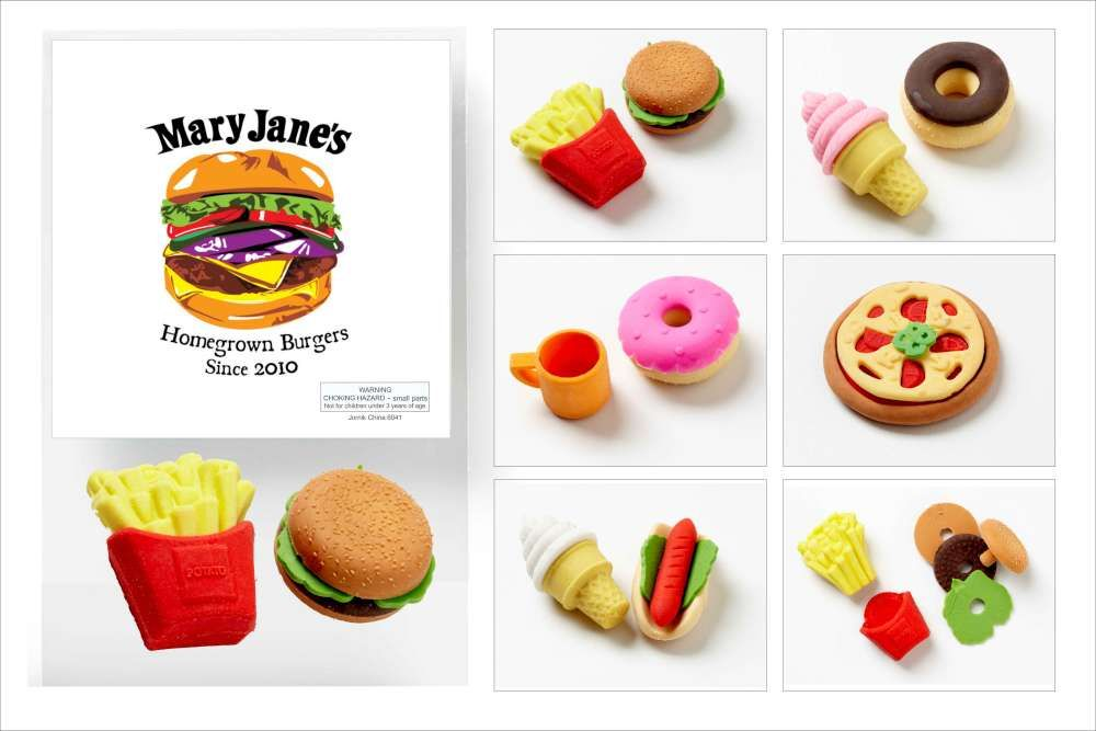fun food japanese 3d erasers they come in a polybag with the advertiser s
