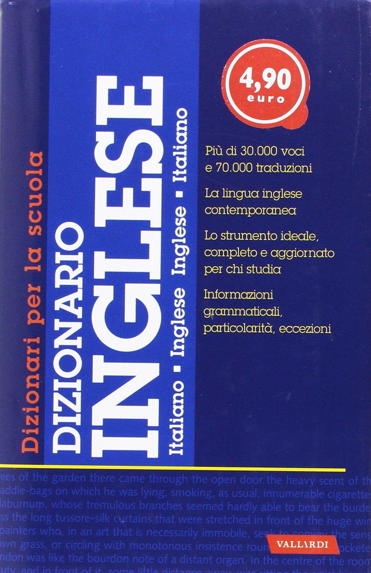 Dizionario Inglese A Scuola Dizionario Inglese Scuola Scuola Inglese E Libro Aperto