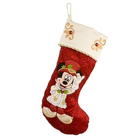 disney christmas stocking victorian mickey mouse