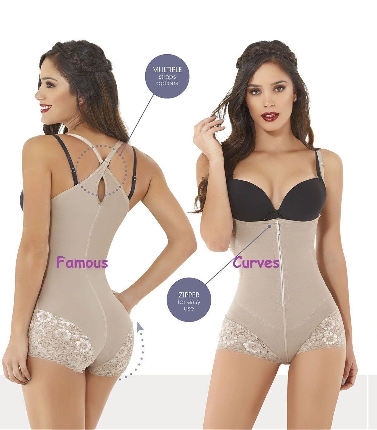 Fajate/&Fajas Colombianas Reductoras Levanta Cola Post Surgery Full Body Shaper #