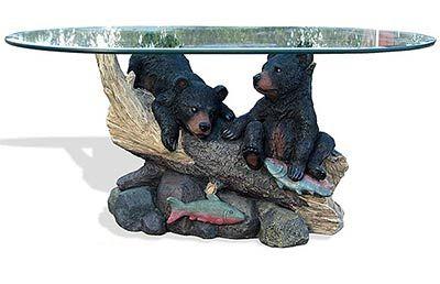 Bear Cubs Sculpture Coffee Table Bear Sculptures Bear Cubs