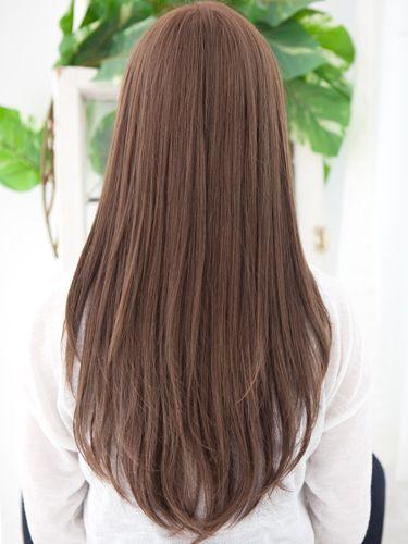 スリークストレート ロング 髪型 ロング ヘアカット ロングヘア