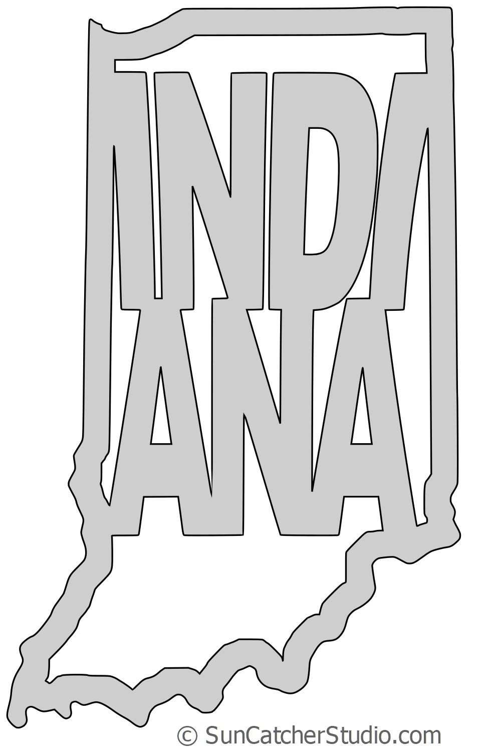 Indiana Map Shape Text Outline Scalable Vector Graphic Svg Printable Downloadable Free Scroll Saw Patt Scroll Saw Patterns Free Scroll Saw Patterns Scroll Saw
