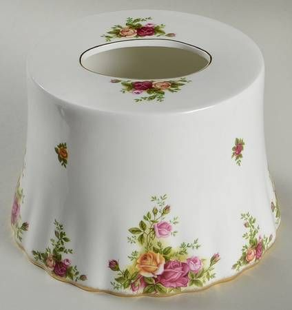 Royal Albert Old Country Roses Tissue Holder Country Roses