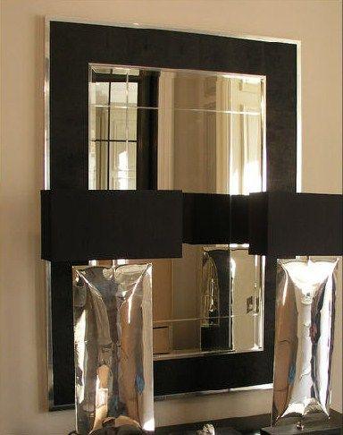 Special Order Design Luxury Genuine Shagreen Mirror Black