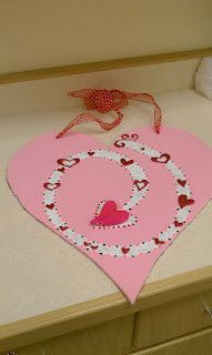 Valentine's Day Heart Wooden Door Sign by DoorDecorByEmily on Etsy, $40.00