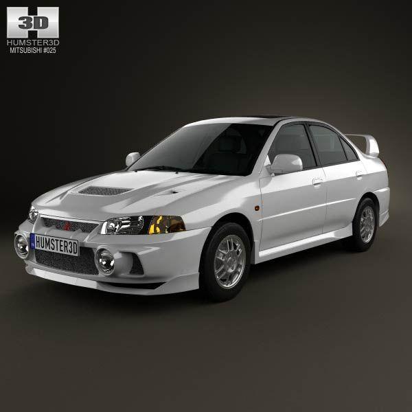3d Model Of Mitsubishi Lancer Evolution 1997 Mitsubishi Lancer Evolution Mitsubishi Lancer Mitsubishi