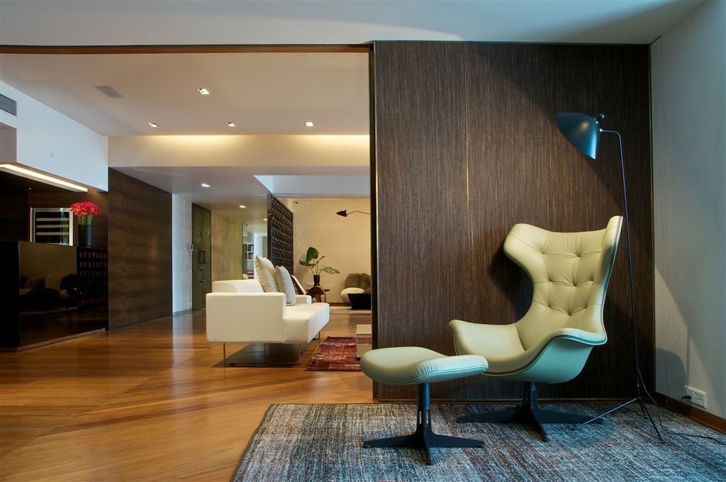 Hotel And Resort Design, Green Sofa Bed Also Wooden Sliding Wooden Door As  Laminate Design Mumbai Renovation Mumbai Penthouse By Rajiv Saini