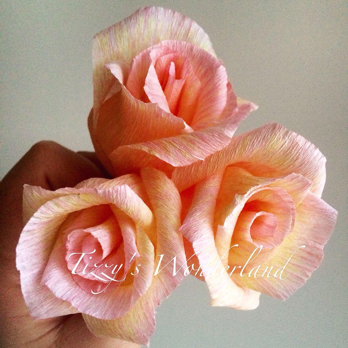 Papaveri Di Carta Crespa crepe paper roses! rose di carta crespa! | flowers | fiori