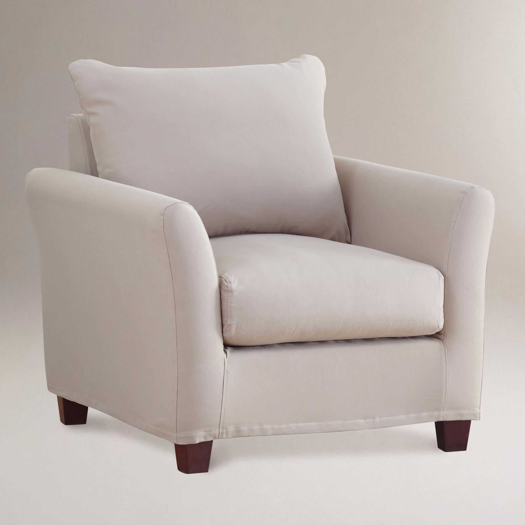 Luxe chair slipcover khaki luxe chair slipcover khaki world market