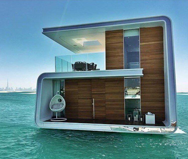 Floating House Off The Coast Of Dubai Floating House