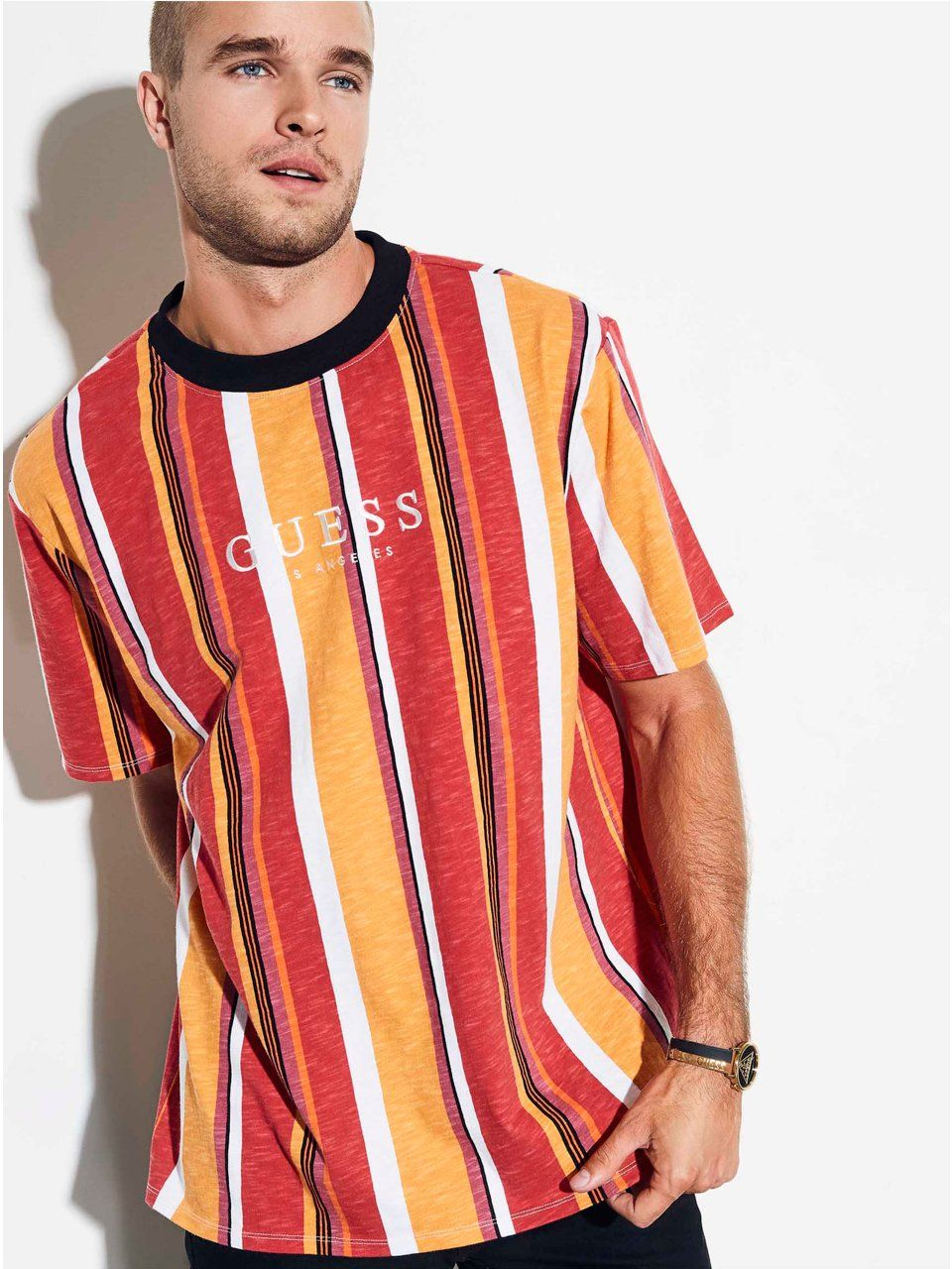 c6040eae63 GUESS Originals Oversized Sayer Striped Tee in 2019 | Products ...
