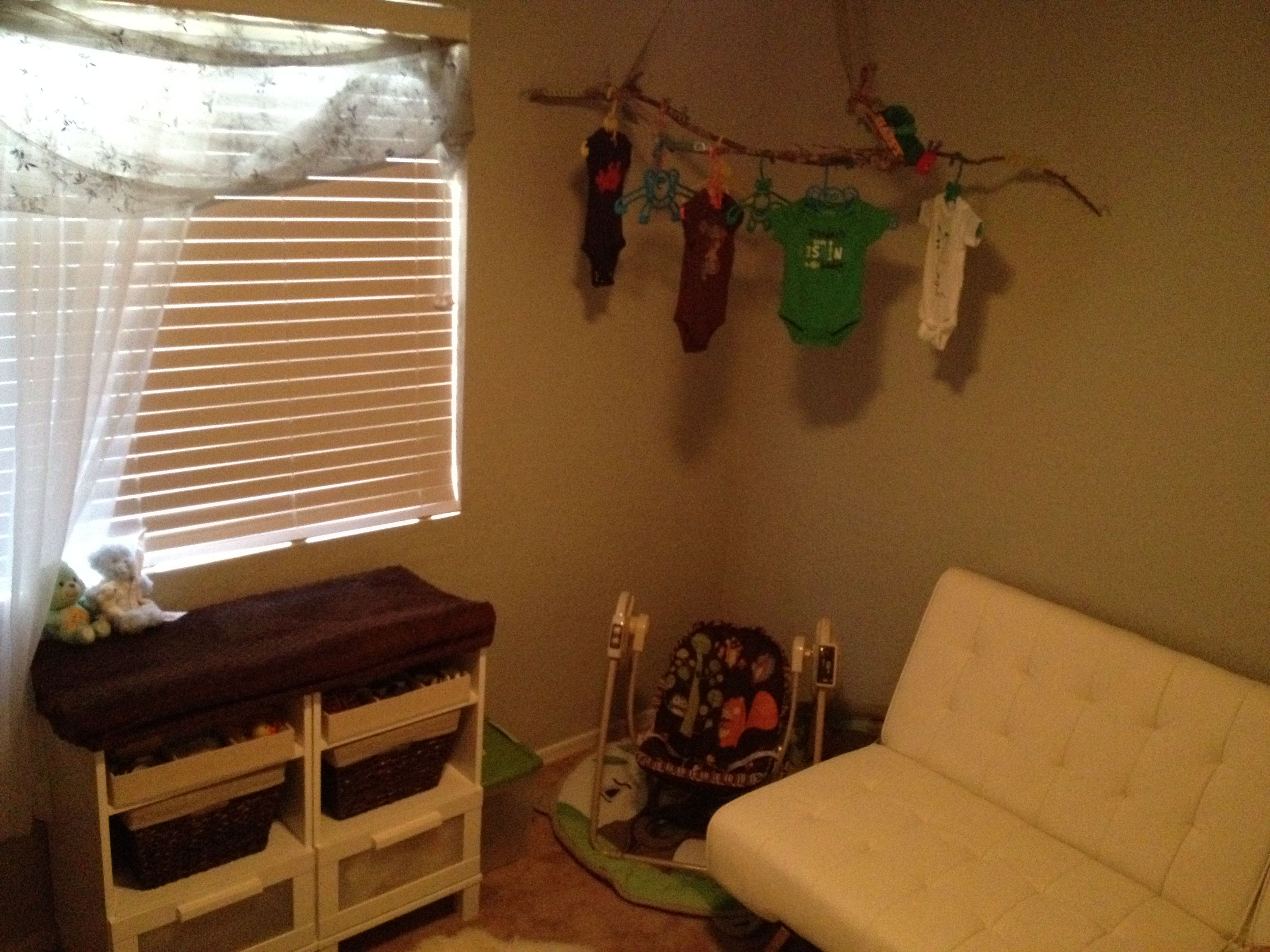 changing table made from 2 side tables and a foam bath mat w cover ...