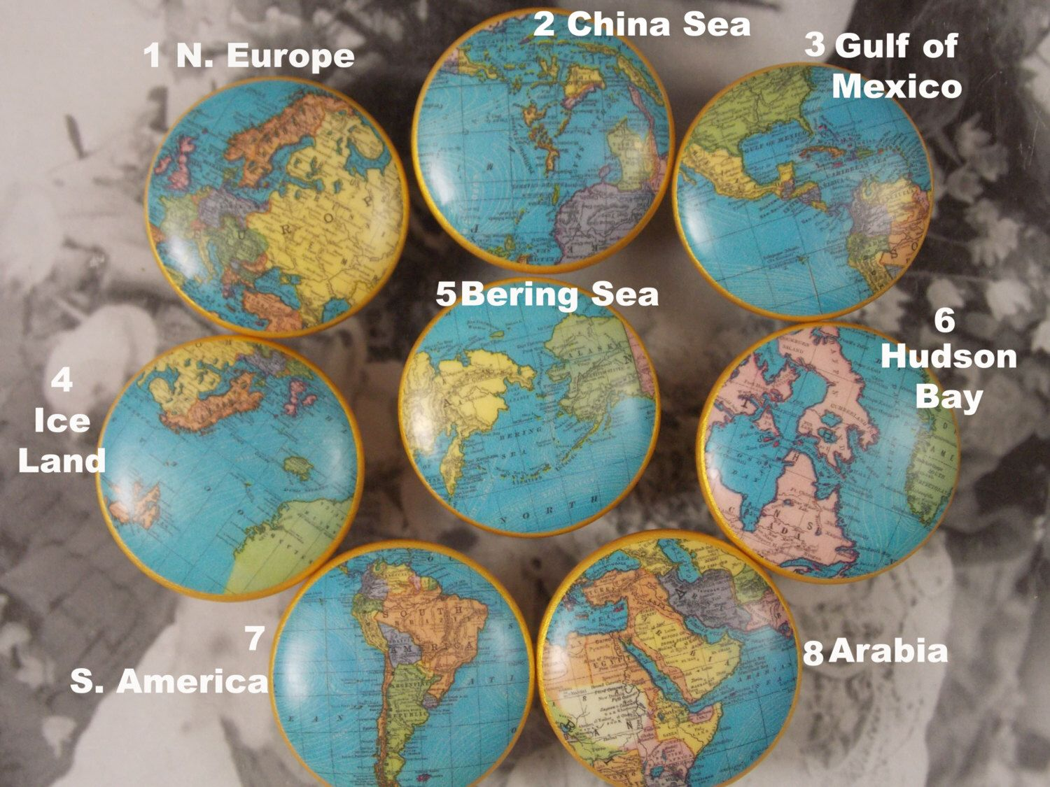 1 12 map dresser knobs 12 blue world maps with great detail to 1 12 map dresser knobs 12 blue world maps with great detail to choose from priced for one knob by dynastyprints on etsy gumiabroncs Images