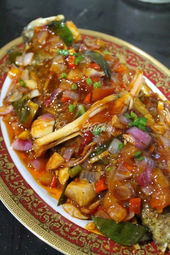 ikan masak masam manis simple masak memasak Resepi Ikan Tenggiri Pais Enak dan Mudah