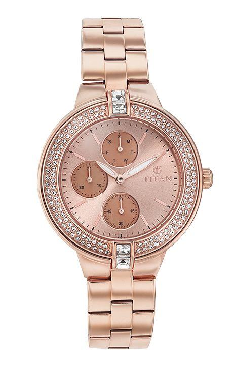 f44b87e15f623 Titan Rose Gold Watch for Women - 9967wm01 - Helios Watch Store   my ...