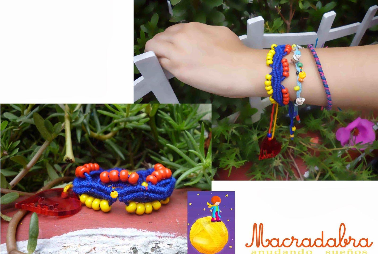 Ondas Tricolores Pulsera #macrame
