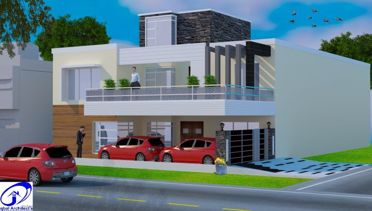 45x90 4050 Sq Ft 1 Story House Plan Renovation Gulberg 2 Lahore Iqbal Architects In 2020 House Plans Story House House Design