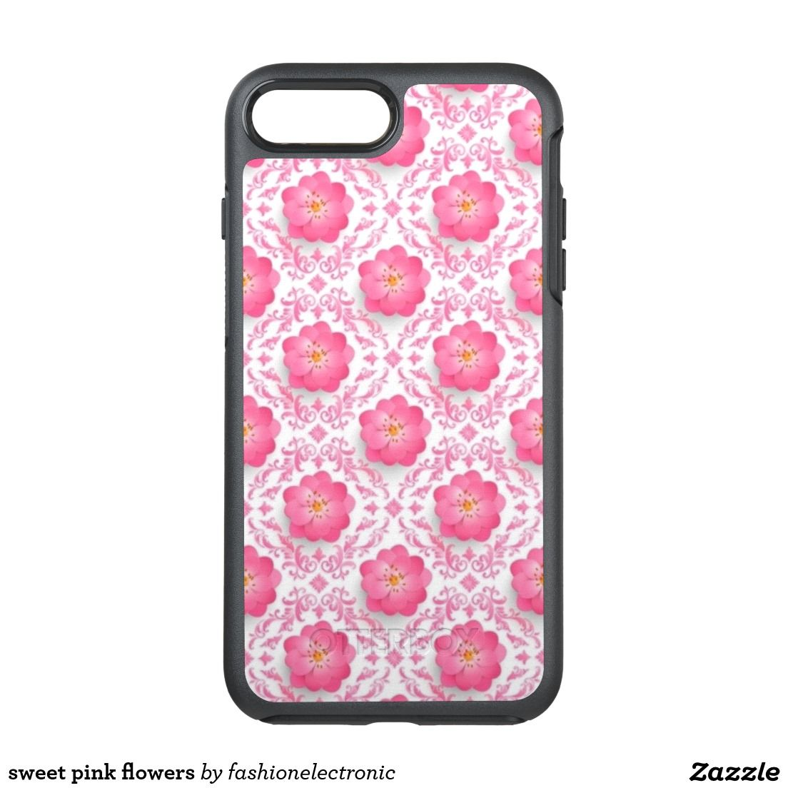 sweet pink flowers OtterBox symmetry iPhone 7 plus case