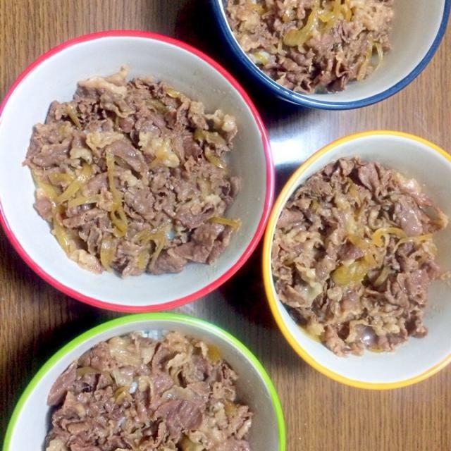 今日はみんな大好き牛丼です(≧∇≦) - 4件のもぐもぐ - 牛丼(^ ^) by senko