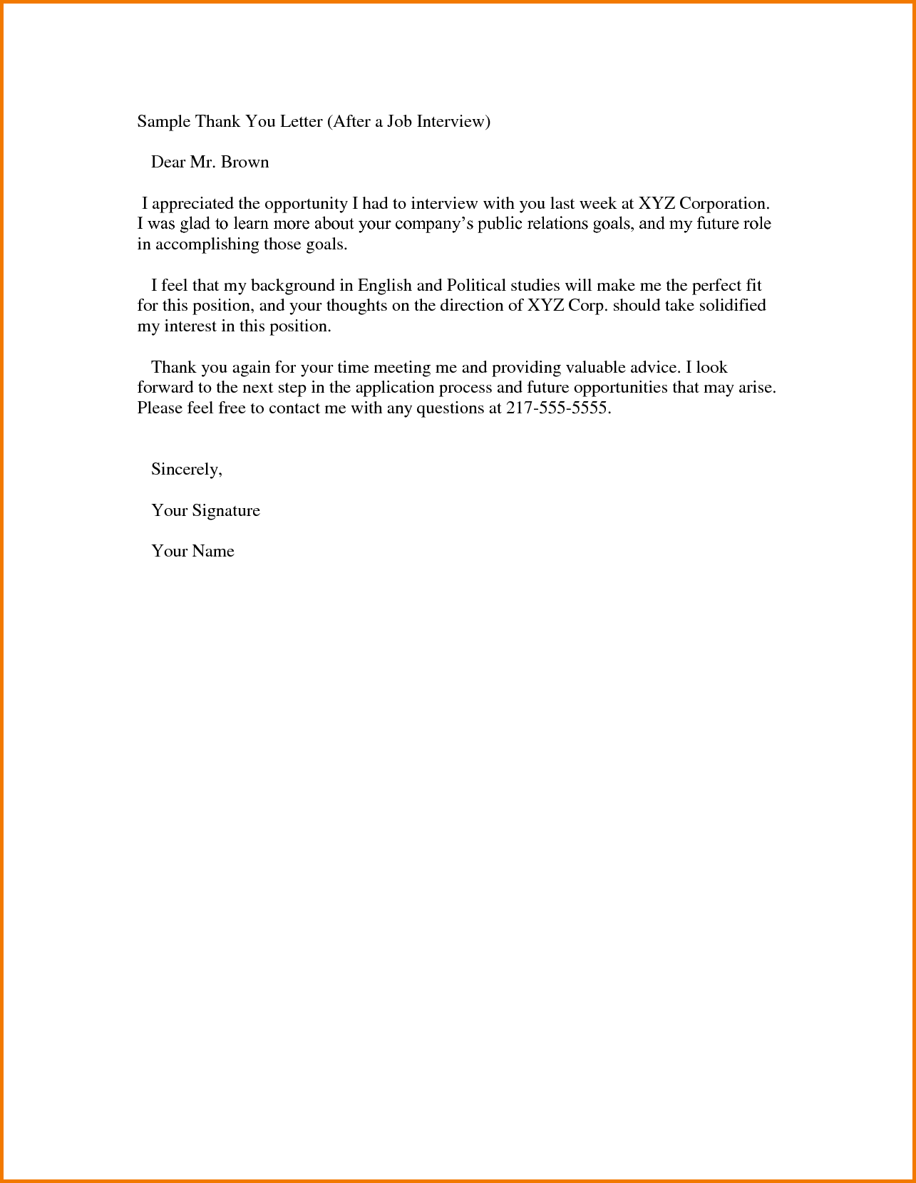 Pin by News PB on Resume Templates Thank you letter