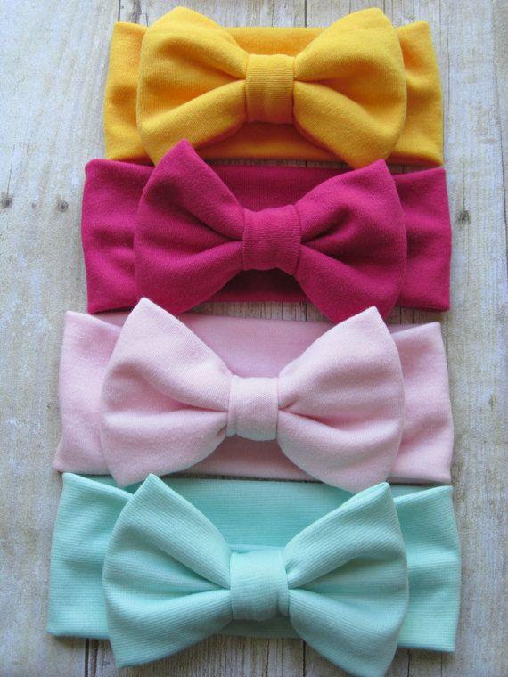 Fabric hair bow big girl bow baby girl shower hand tied hair bow,baby girl gift hair clip Blush Pink hair bow