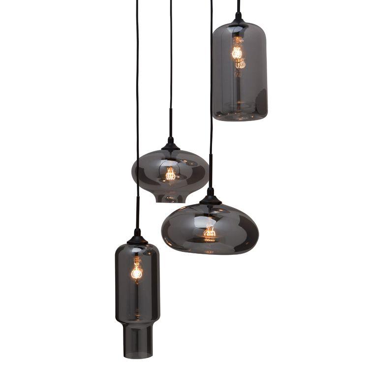 Wilma Smoked Grey Pendant Lamp | Modern Lighting ...