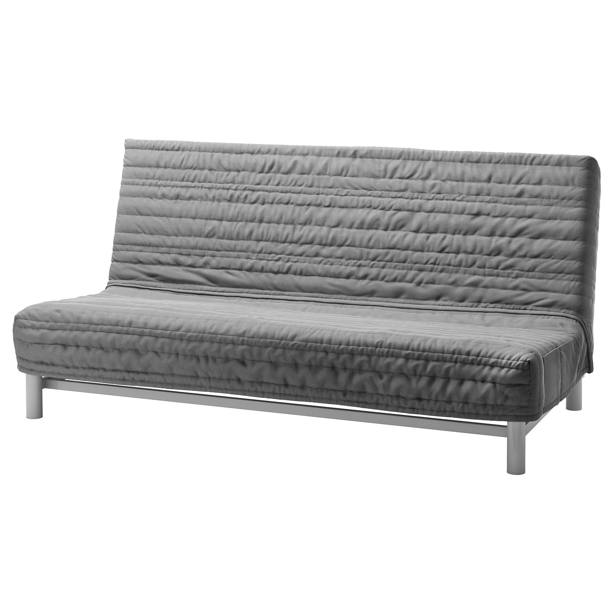 IKEA BEDDINGE L–V…S Sofa bed Knisa light gray Extra covers
