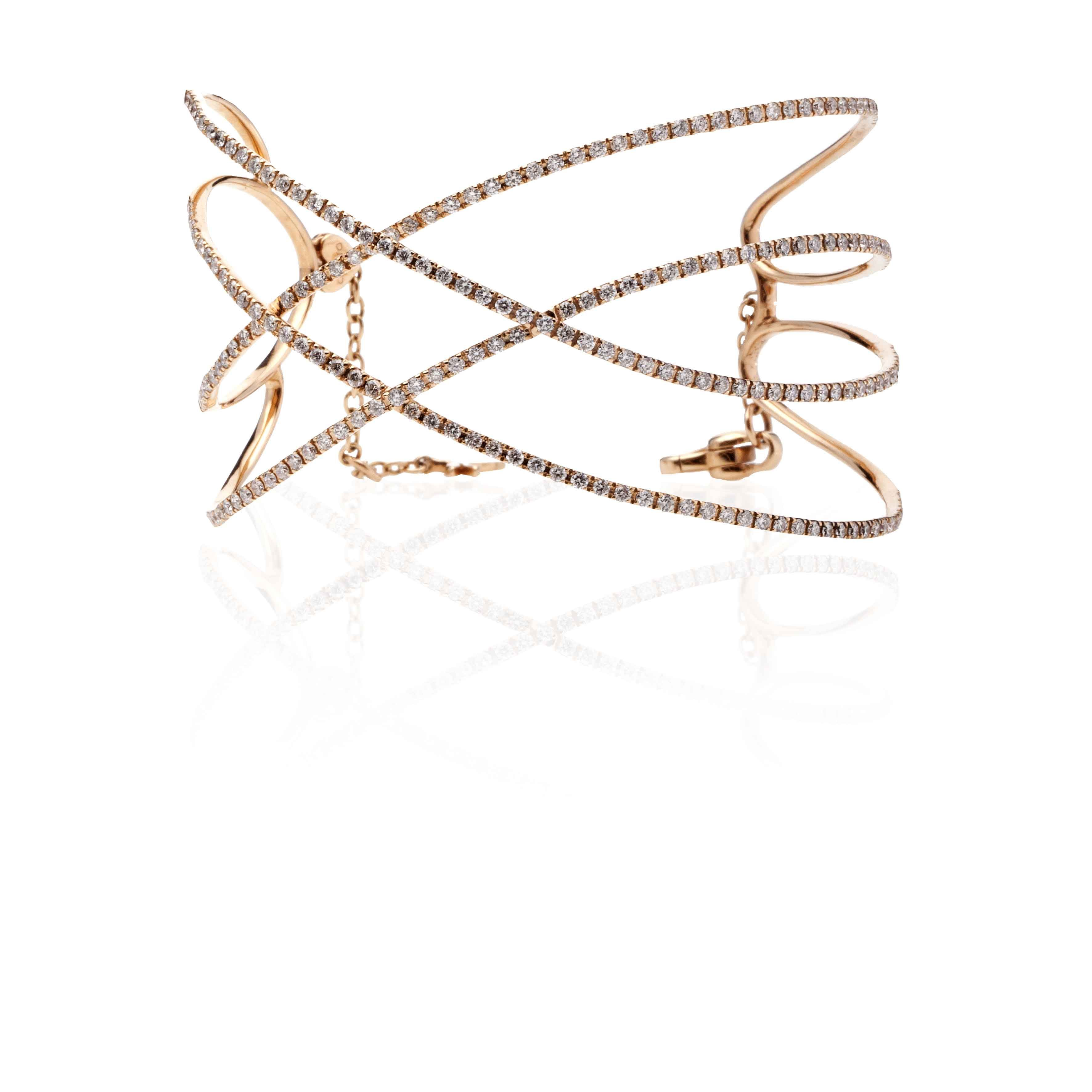 18 kt Rose Gold bracelet with Diamonds
