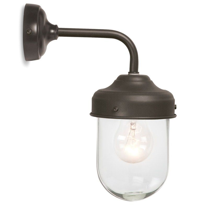 Outdoor Wall Lighting Mounted Exterior Barn Lamp In Coffee