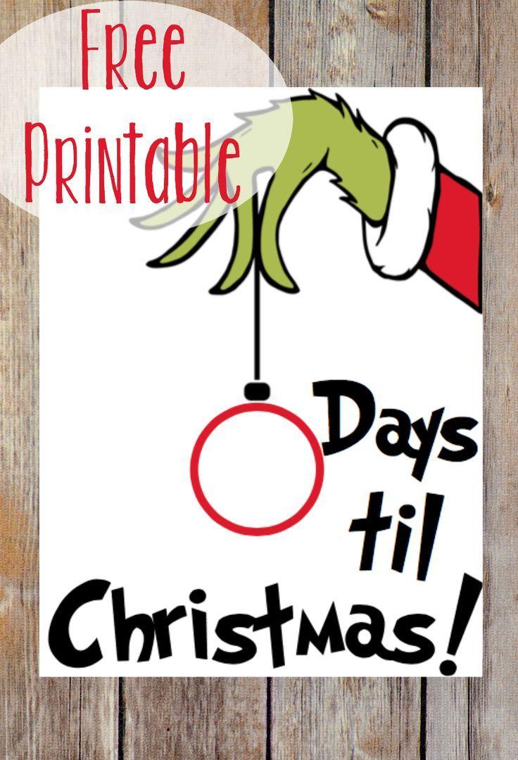 Photo of Countdown to Christmas + Grinch Printable