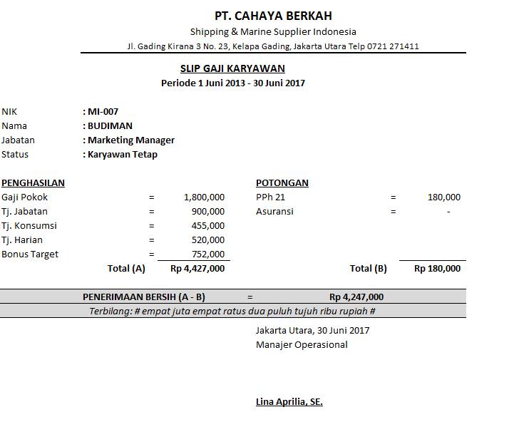 Contoh Payslip Sistem Slip Gaji Malaysia Payment System