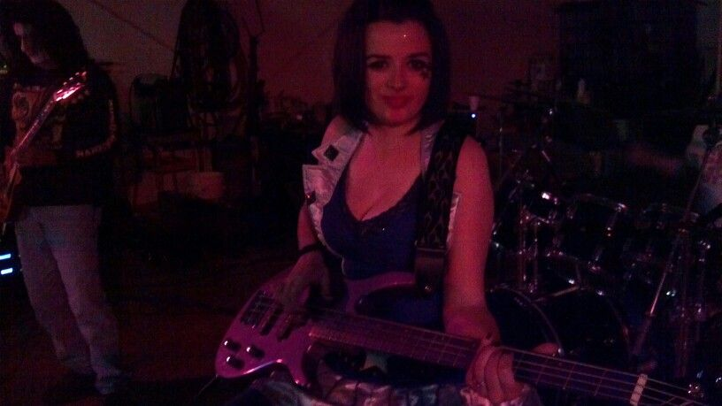Lee Ann Lambert, lead singer for 3rd Violation, 10/2012 halloween party