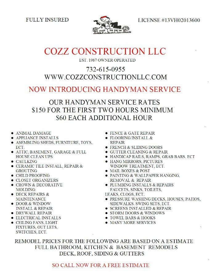 List of services   Logo Inspiration   Handyman projects