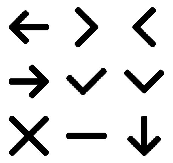 113 233 Free Vector Icons Of Arrow Icon Set Design Vector Free Down Arrow Icon