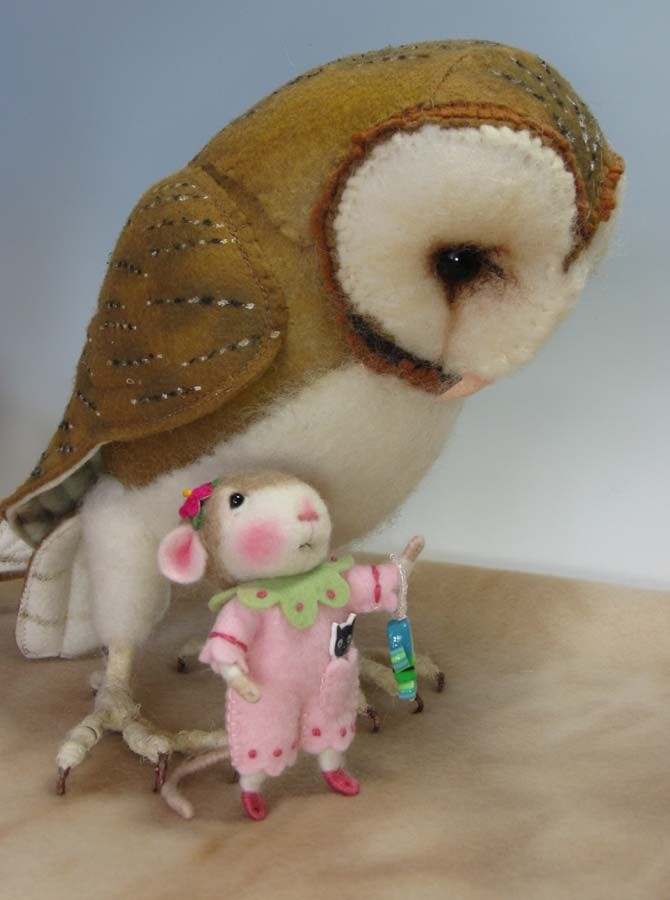 Needle Felting / Needle Felted Creations By Barby Anderson: Search results for Owl helen priem