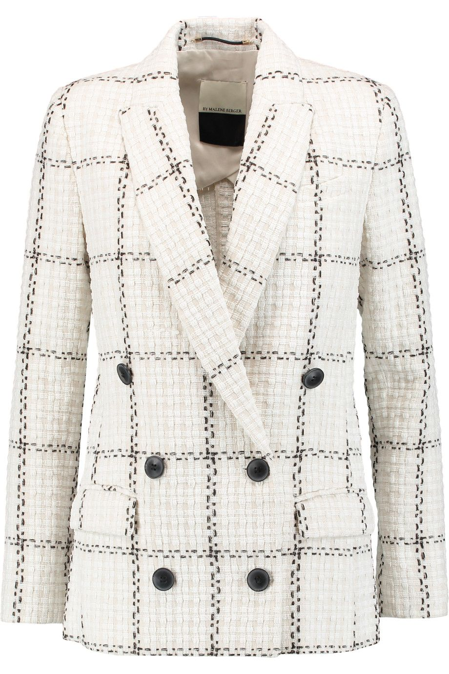 d416eda1 BY MALENE BIRGER Cacci double-breasted bouclé-tweed blazer. #bymalenebirger  #cloth #blazer