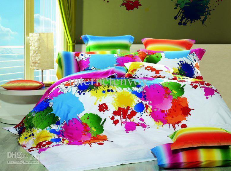 Wholesale Discount Multicolor Inkjet Full Queen Bedding Set