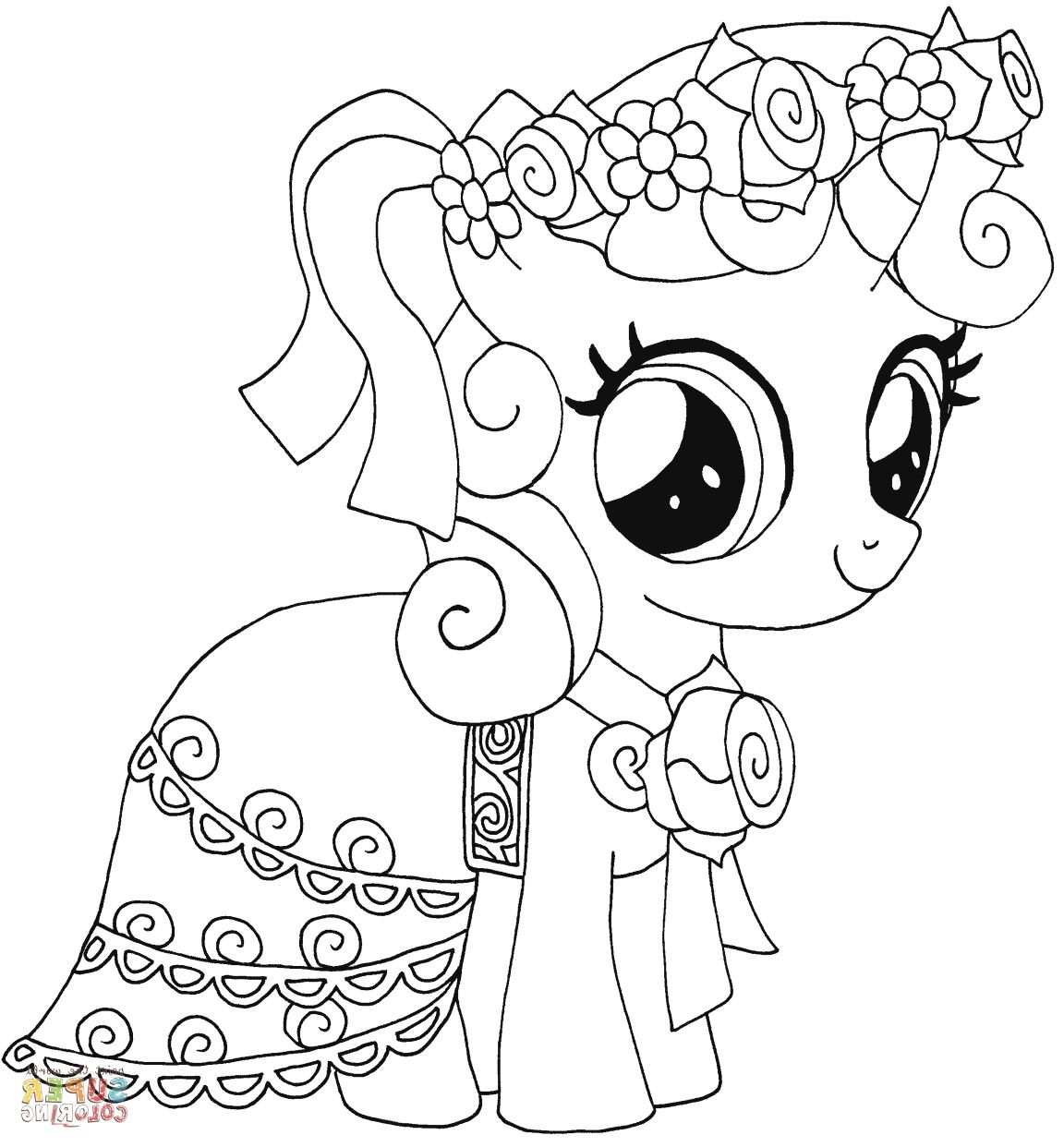 Mlp Coloring Pages My Little Pony Buku Mewarnai Gambar