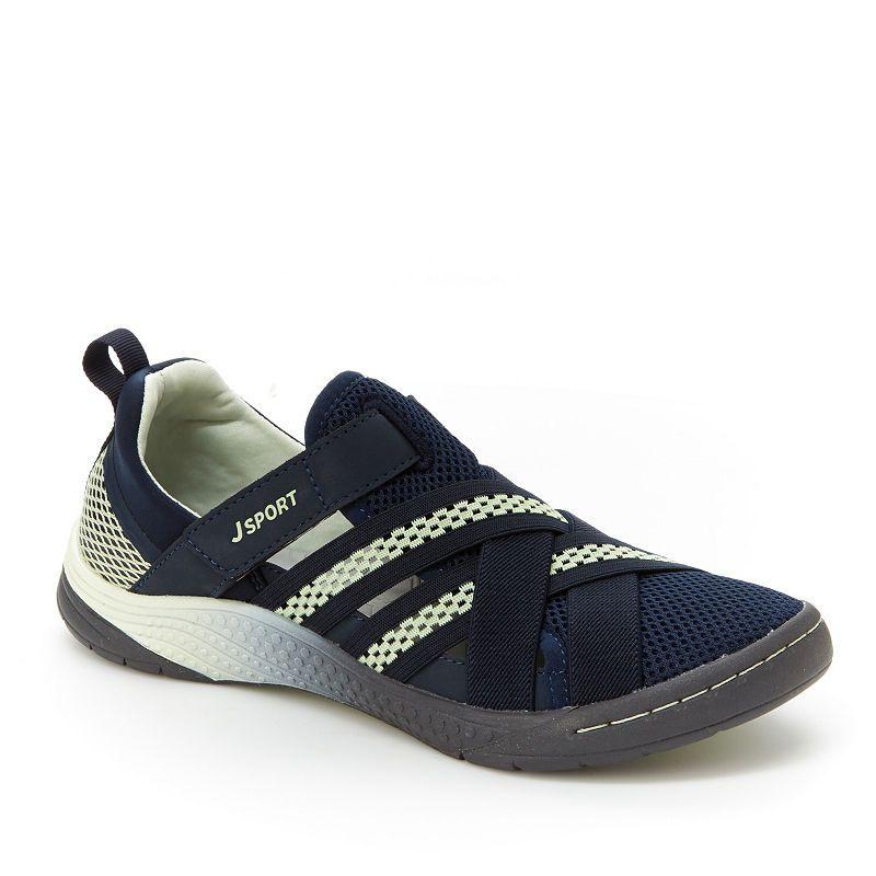 J Sport By Jambu Essex Womens Slip On Shoes Hook And Loop Closed