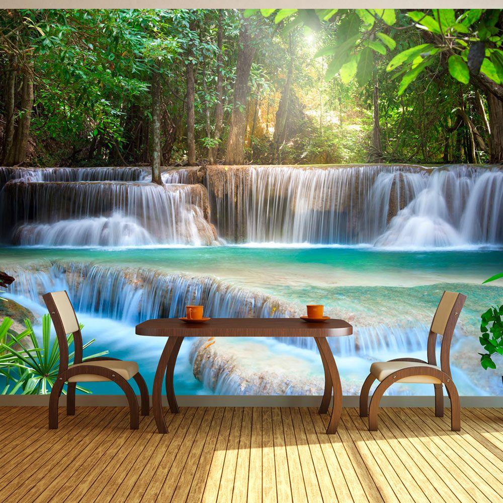 Wasserfall Wald Natur Fototapete Vlies Tapete Xxl Wandtapete C A 0006 A B Ebay Fototapete Fototapete Wasserfall Wandtapete