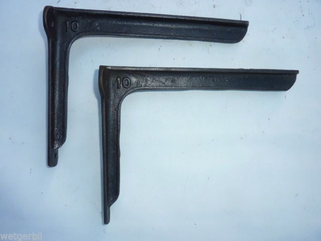 antique iron shelf brackets