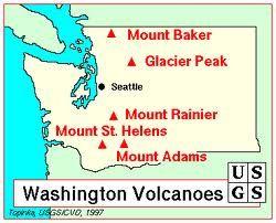 washington volcanoes. | Washington State | Pinterest | Washington